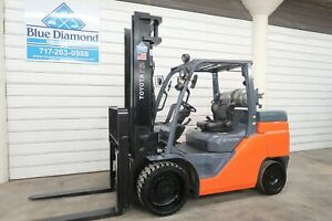 2016 Toyota Forklift 8fgc70u 15 000 Cushion Tire Lp Gas 148 Lift S s