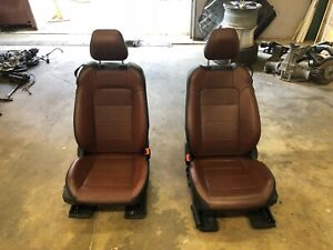 15 16 17 Ford Mustang Front Seats Black Saddle Brown 2 Tone Leather Power Oem