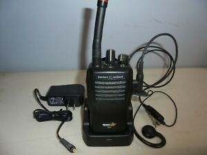 Bearcom Bc95 Vertex Standard 2 Two Way Radio W New Charger Wired Mic Ear Piece