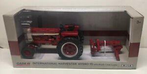 1 16 Ih International Harvester Hydro 70 Tractor With Blade Diecast New By Ertl