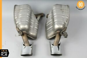 03 08 Mercedes R230 Sl500 Sl600 Amg Exhaust Muffler Mufflers Tips Assembly Oem