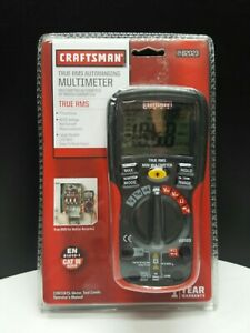 Craftsman True Rms Autoranging Multimeter 34 82023 7 Functions Lcd Screen