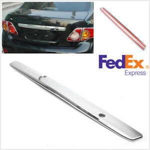 Silver Abs Rear Trunk Hatch Lid Trim Molding Stripe For Toyota Corolla 2009 2010