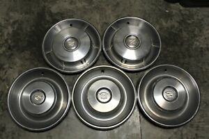 Vintage 1965 1966 1967 Cadillac Deville Set 5 Hubcaps Wheel Covers 65 66 67 Oem