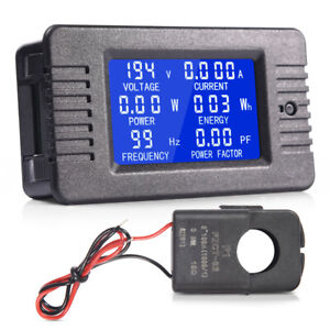 80 260v 100a Lcd Display Ac Volt Meter Ammeter Energy Power Monitor Panel