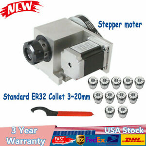 Cnc 4th Axis Hollow Shaft Rotary Router Rotational Axis Er32 Collet Set