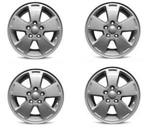 Set 4 16 Silver Replacement Wheel Fits 06 12 Chevy Impala 16x6 5 5x115 47mm