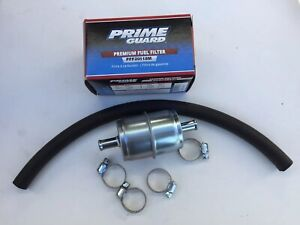 Universal 3 8 Metal Fuel Filter With 1 Hose And Clamps