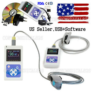 Fda Handheld Pulse Oximeter Oled Spo2 Pulse Heart Rate Monitor software fedex 2d