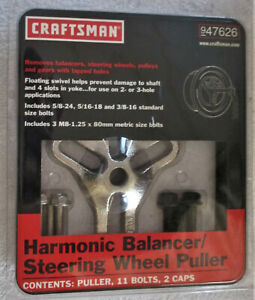 Craftsman 947626 Harmonic Balancer steering Wheel Puller New Unopened Package