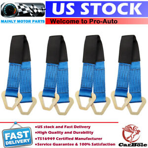 4pcs 24 Hd Axle Straps Race Car Hauler Trailer Tow Truck Wrecker Wheel Tie Down