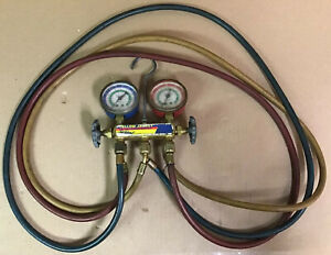 Yellow Jacket Test And Charging Manifold W Hoses R12 R22 R502 Used