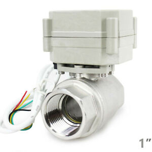 Stainless 1 9v 12v To 24 Vac dc 5 wires Normally Closed Motorized Ball Valve