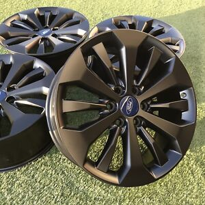 20 Ford F150 Expedition King Ranch Limited Oem Factory Stock Wheels Rims Black