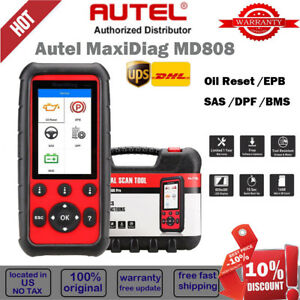 Autel Maxidiag Md808 Car Obd2 Auto Diagnostic Tool Obd2 Code Reader Check Engine
