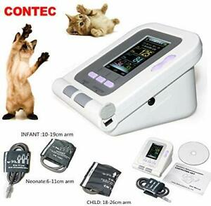 Contec08a vet Veterinary Blood Pressure Monitor Nibp 3 Cuffs dog cat pets Pc Sw