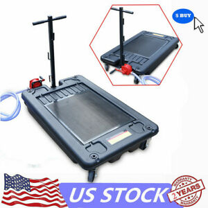 Low Profile Car Oil Drain Pan 17gallon Portable Truck Car Oil Drain Pan 8ft Hose