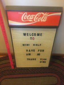 Vintage Coca Cola menu board 16x27 1/2""