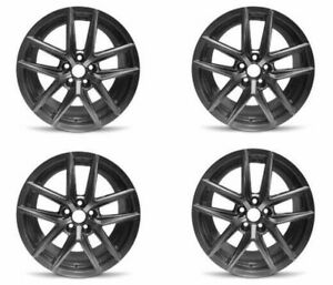 Set 4 18 Hyper Black Factory Wheel Fits 14 17 Lexus Is250 is350 18x8 5x4 5 35mm