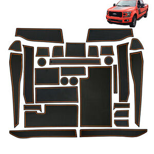 Liner Accessories For 2017 2020 Ford F 150 Cup Console Door Pocket Inserts 30p