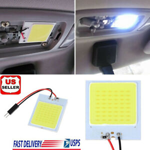 T10 48 Smd Cob Led 4w 12v White Light Car Interior Panel Lights Dome Lamp Bulb