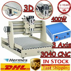Cutter 400w 3 Axis 3040 Cnc Router Engraving Milling Engraver Machine Pcb Wood