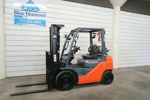 2013 Toyota 8fgu20 4 000 Pneumatic Tire Forklift Lp Gas lps 3 Stage S s