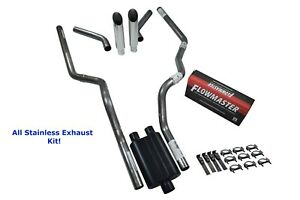 All Stainless Dual Exhaust Chevy Gmc 1500 07 14 Flowmaster Super 44 Corner S Tip