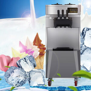 Commercial Frozen Ice Cream Machine Maker 20 L h three Flavors Auto Ice Maker