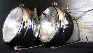 S e v Marchal H4 Iode 6 Driving Lamps Rare Under Bumper Lights Made In France