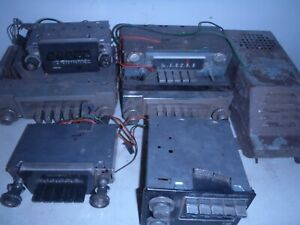 Vintage Car Radios Mixed Lot Mopar Crystler Delco American Golden Tone