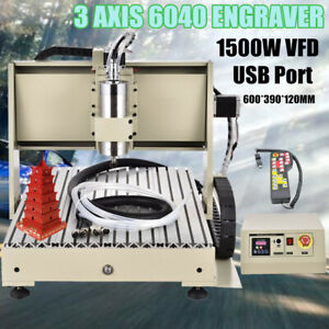 1500w 3 Axis Desktop Cnc 6040 Router Kit Pcb Milling Carving Engraving Machine