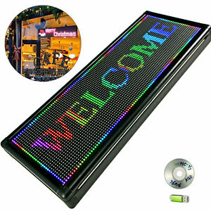 Led Sign Led Scrolling Sign 40 X 15 Inch Full Color Signs For Advertising