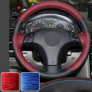 New Steering Wheel Cover Stitch On Wrap For 04 09 Mazda 3 03 08 M6 M5 Speed 3 6