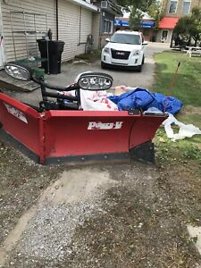Boss Snow Plow Power V 7 Foot 6 Inches Blade With Wings