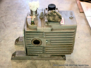 Used Leybold Trivac S60a Single Stage Rotary Vane Mechanical Vacuum Pump