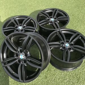19 Bmw 530i 540i 535i 5 Series Wheels Rims Oem Factory Set Of 4 Black Satin 550