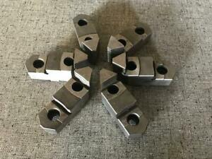 Set Of 6 Buck Reversible Top Jaws For 8 Buck 6 jaw Lathe Chuck Very Nice Cond