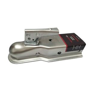 Straight Tongue Trailer Coupler Hitch 2 Ball 3 Channel Width With 3500 Lbs