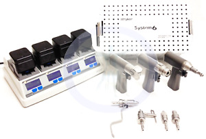 Stryker System 6 Set With 6203 6206 6208 Handpieces with 3 Month Warranty