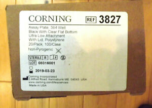 Partial Box Of 18 Corning 3827 384 Well Assay Plate Black Clear Bottom Exp 3 19