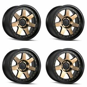 Set 4 20 Mayhem 8300 Prodigy Black W bronze Tint Truck Wheels 20x9 6x135 0mm
