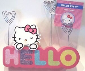 Hello Kitty Photo Holder Picture memo note Holder Rainbow Colors hello New