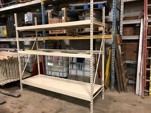 Brand New Lozier Brand Wide Span Shelving Industrial Storage Shelves 20 Bay Lot