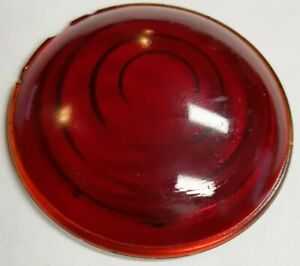 Vintage Red Glass 3 Lens Truck Tail Light Early Auto Stop Lamp