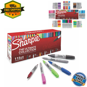 Sharpie Permanent Markers Ultimate Assorted Tips And Colors 115 Count Worldwide