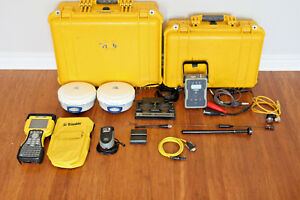 Trimble Dual R6 Model 2 Gps Gnss Glonass Rtk Survey Receiver Setup Tsc2 Tdl 450h