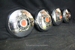 1946 47 Packard Clipper Jr Hub Caps Set Of 4 Nice