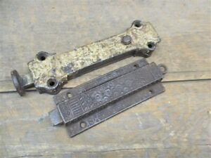 2 Eastlake Deadbolts Architectural Salvage Vintage Door Lock Latch Hardware