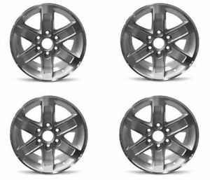 Set 4 17 Silver Machine Face Wheel Fits 07 14 Gmc Trucks van 17x7 5 6x5 5 31mm